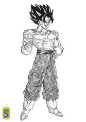 Vegeto -CELL saga- by Blood-Splach