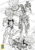 Saiyajin's VS Mirai Cell by Blood-Splach
