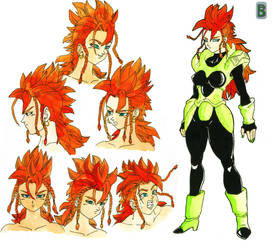 Android 16 female by Blood-Splach