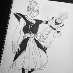 Zamasu Vs Goku by Blood-Splach