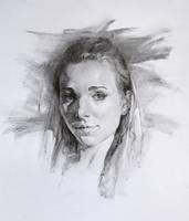 Charcoal Portrait Study, Practice 31 by AnaviTil