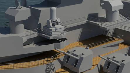 USS Missouri Weapons by Gnougnou