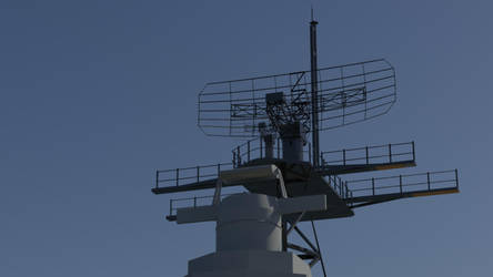 USS Missouri Radar Tower by Gnougnou