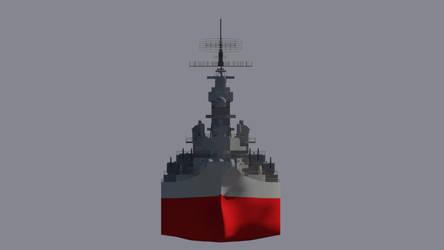 USS Missouri Front by Gnougnou