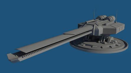 WIP : 500mm Railgun MKI by Gnougnou