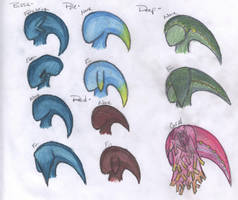 Sea Zora Ear Fins by Beasts-of-Blood