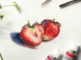 Strawberries by natashavilder