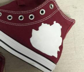 WIP We Bare Bears Left Shoe by rawrdoodles