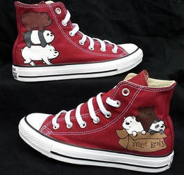 We Bare Bears Converse by rawrdoodles