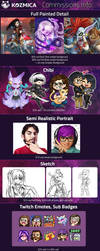 Commissions info by kozmica64