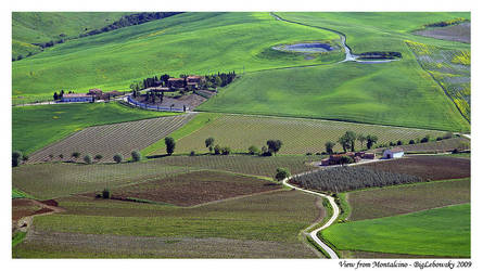 View from Montalcino by BigLebowsky