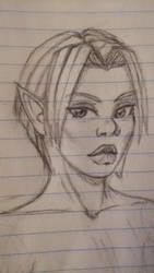 elf girl sketch 2 by Spector-Q