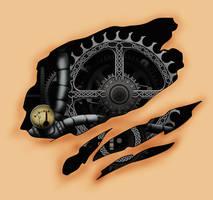 Gear Heart Tattoo Design by The-Brade