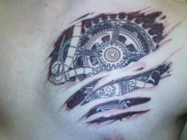 Gear Heart Tattoo -Photo- by The-Brade