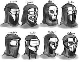 Skull Masks Concepting by The-Brade
