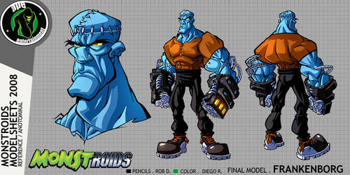 Monstroids Modelsheet 01 by RobDuenas