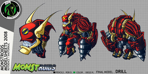 Monstroids Modelsheet 09 by RobDuenas