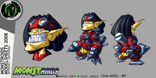 Monstroids Modelsheet 10 by RobDuenas
