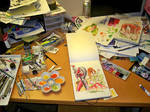 My Painting Desk... by RobDuenas