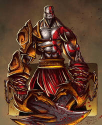 Kratos Sketch - Colored by RobDuenas