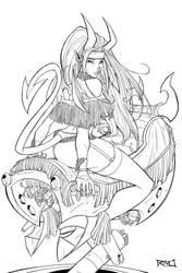 Indian HellGirl wip 01 by RobDuenas