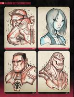 Random Sketchies 065-068 by RobDuenas