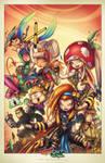 GameCave: Fighting  Junkies Print 01 by RobDuenas