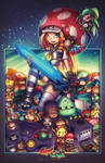 GameCave: Fighting  Junkies Bombkatt Print final by RobDuenas