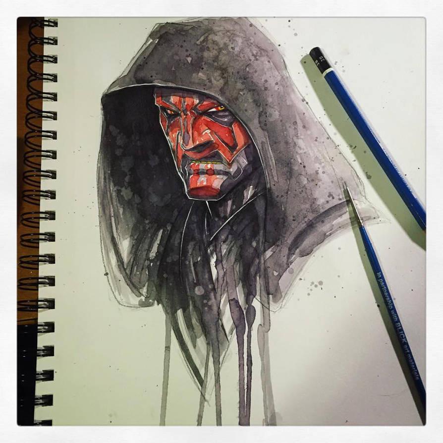 Saucy Sketch - Darth Maul by RobDuenas