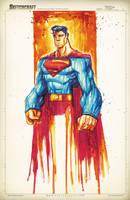Superman Saucy Sketch by RobDuenas
