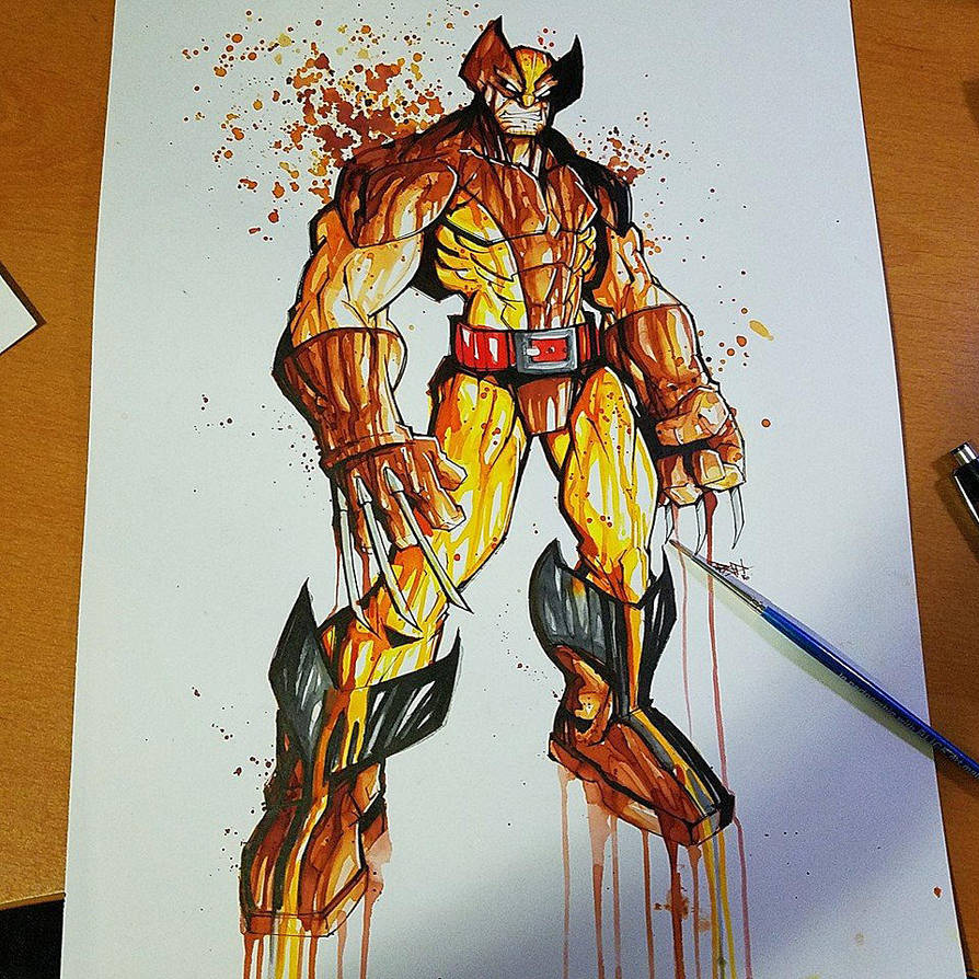 Wolverine Brown and Yellow Saucy by RobDuenas