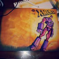 Sketchcover: 90's X-Men Sentinal by RobDuenas