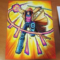 Commision: X-Men Gambit - Copics by RobDuenas
