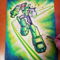 Commission: Green Lantern - Copics by RobDuenas