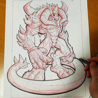 Commission: Diablo Heroes of the Storm - Linearts by RobDuenas