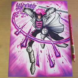 Commission: Gambit X-Men Copics by RobDuenas