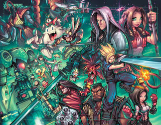 Final Fantasy 7 Tribute by RobDuenas