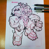 Commission: Odin Gears Linearts by RobDuenas