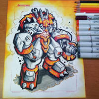 Commission: Odin Gears Copics by RobDuenas