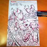Sonic Fighters Cover Linearts by RobDuenas
