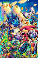 Sonic Fighters Cover Final by RobDuenas