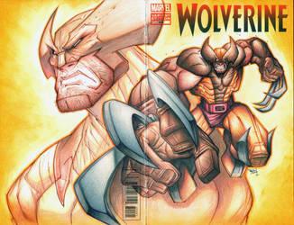 Commision: Wolverine - Color Pencil by RobDuenas