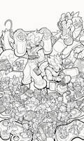 DragonBall Gaming Tribute - Linearts by RobDuenas