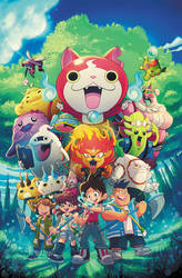 Yokai Watch Cover by RobDuenas