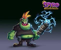 Spyro Reignited Trilogy - Electro Gnorc by RobDuenas
