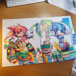 Knuckles Commish WIP 05 by RobDuenas