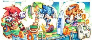 Sonic Beach Commish by RobDuenas