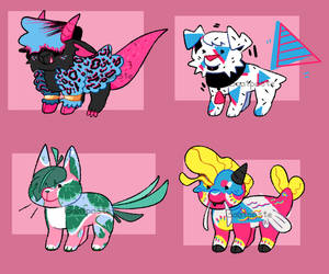 Vaporwave Baby Adopts (Open) by Goatpaste