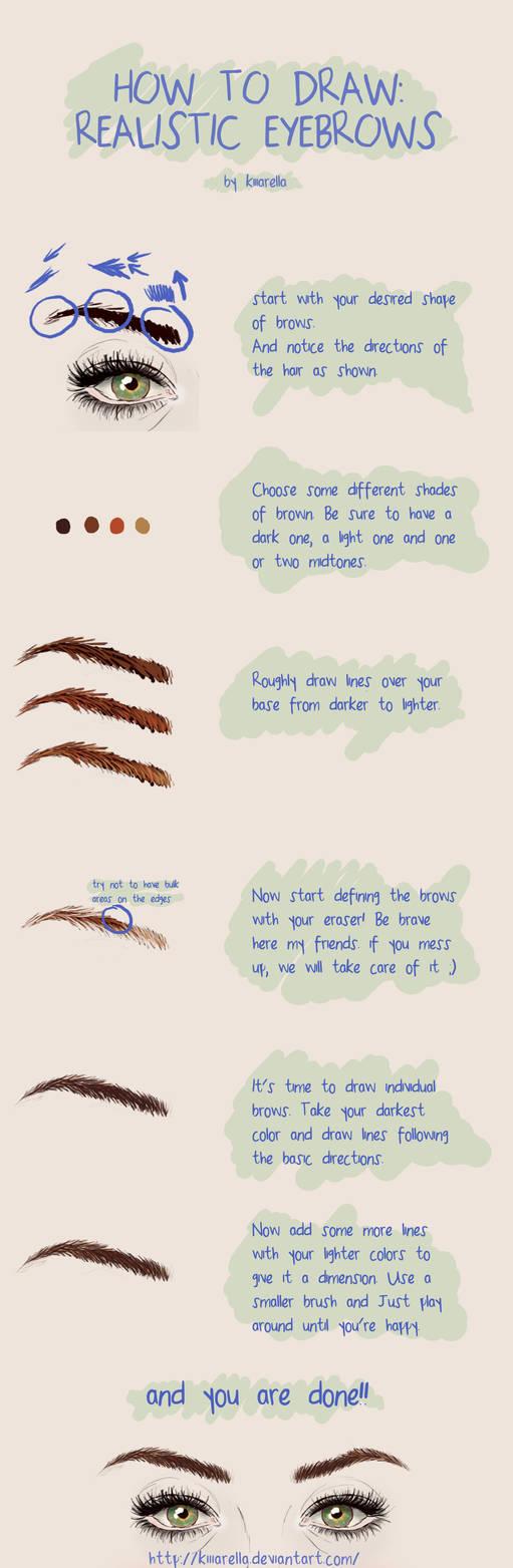 How To Draw Realistic Eyebrows By Kiiiarella On Deviantart