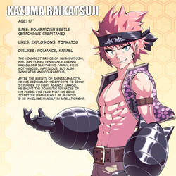 Character Pages - Kazuma by verticalfish